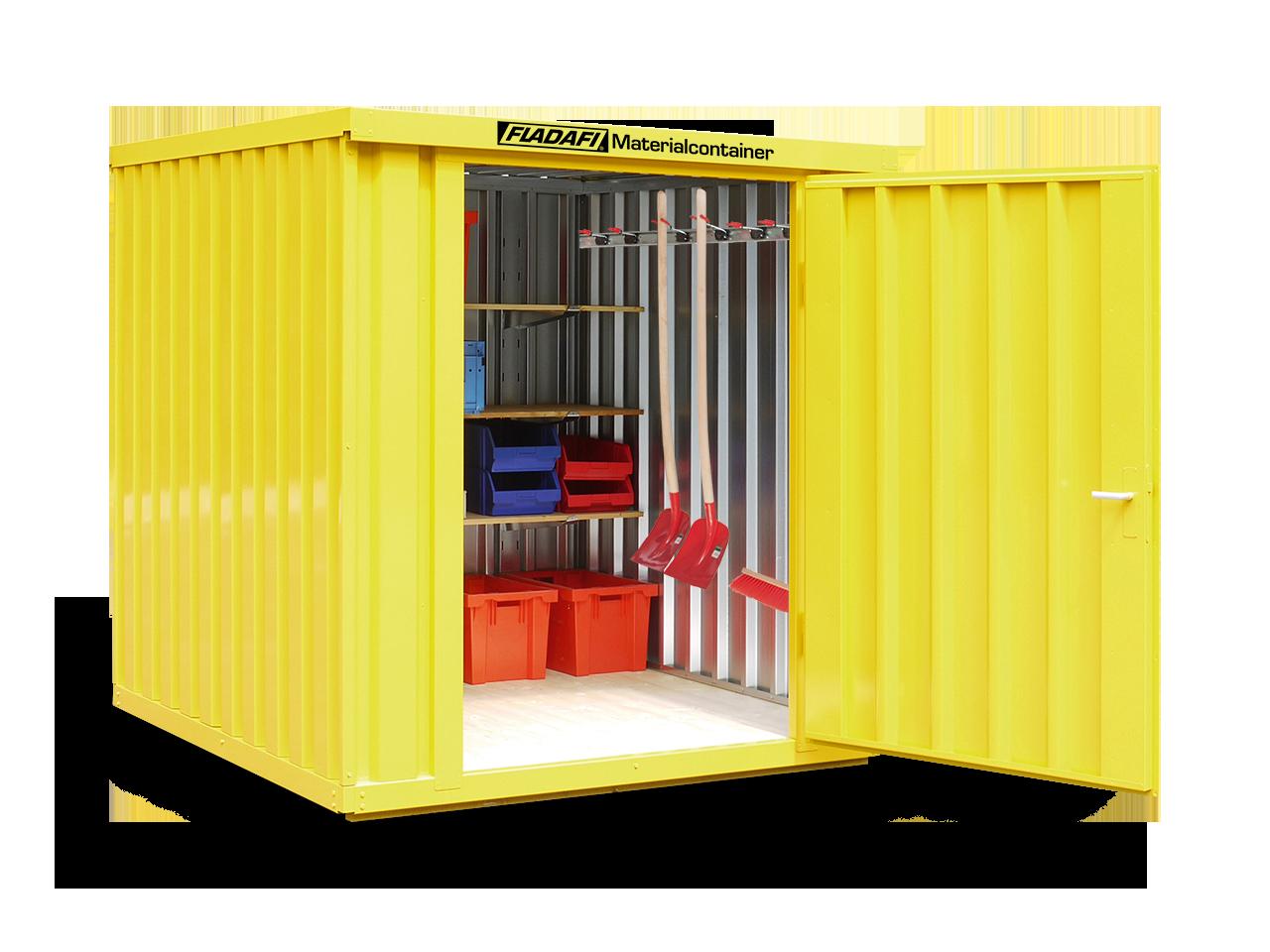 Der Aufbau und die Funktion des Materialcontainers