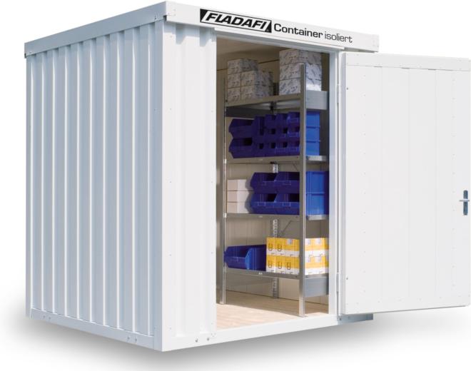 Lagercontainer mit Isolierung gegen kalte Tage