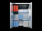 Regalcontainer mit Witterungsschutz