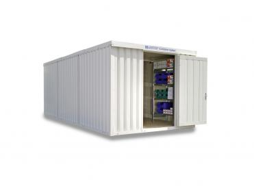Isolierte Materialcontainer Kombinationen von 12 bis 32 m²