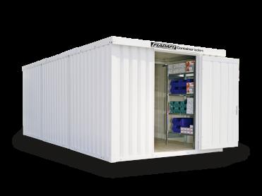 Isolierte Materialcontainer Kombinationen von 12 bis 32 m²