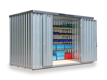 Hochdach Materialcontainer bis 12 m²