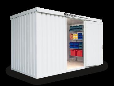 Isolierte Materialcontainer bis 12 m²