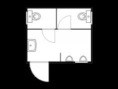 Sanitärmodul 3 m