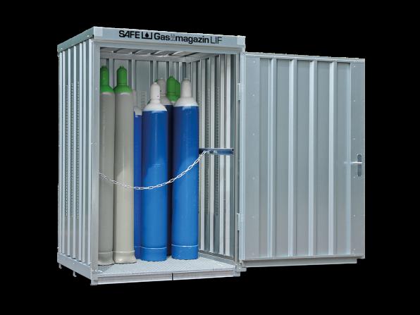 Gasflaschen-Lager GM 125 LIF mit Fussboden