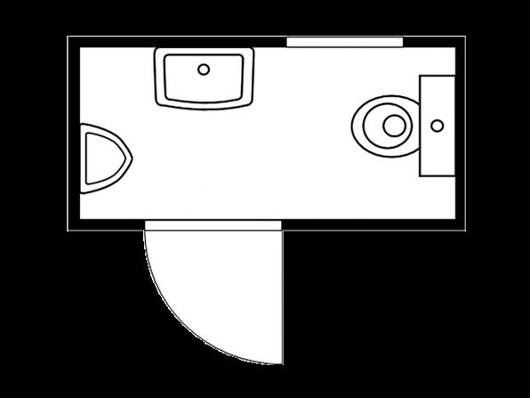 Isolierter Sanitärcontainer 2.1