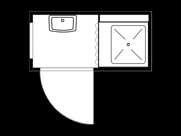 Duschcontainer 2.1, isoliert