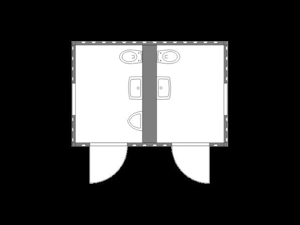 Sanitärcontainer 2.3 mit Ausstattung