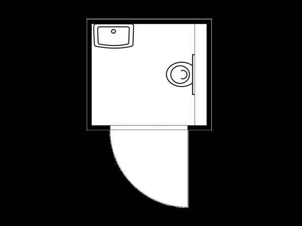 Toilettenbox TB 2704 mit 160 L Frischwassertank