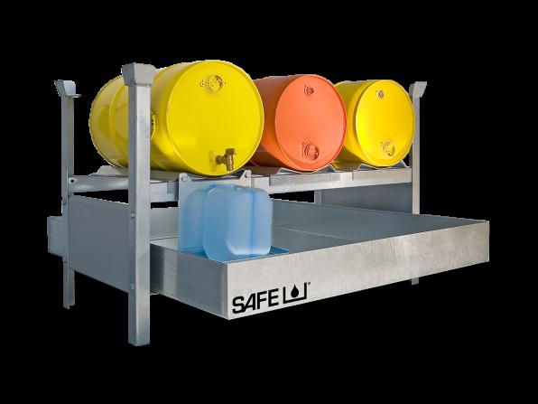 SAFE Kleingebinderegal für Gefahrstoffe Komplettset  KS3L