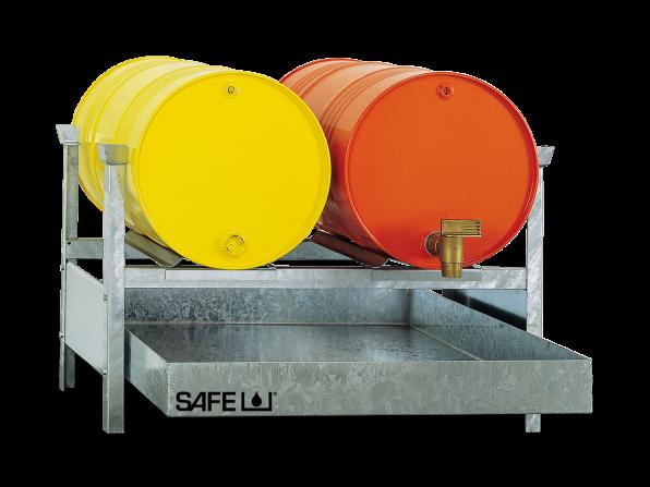 SAFE Kleingebinderegal für Gefahrstoffe Komplettset KS2L