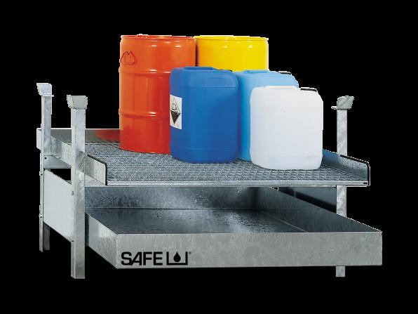 SAFE Kleingebinderegal für Gefahrstoffe  Komplettset KSGD1
