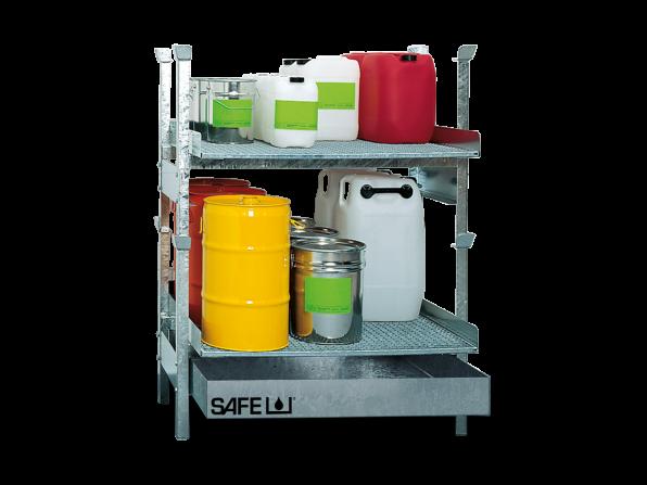 SAFE Kleingebinderegal für Gefahrstoffe Komplettset KSGD2
