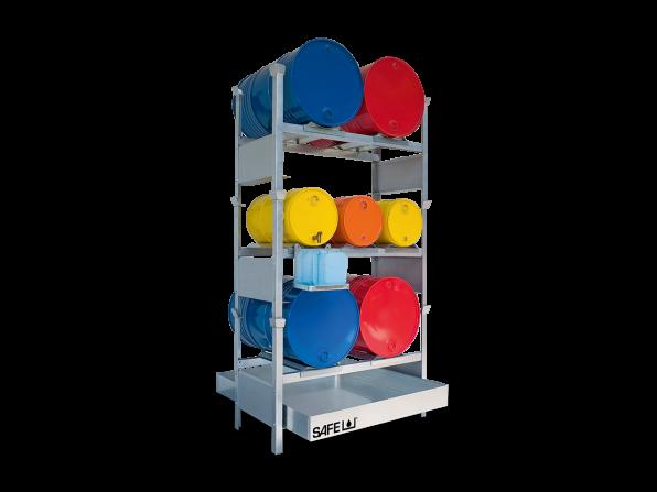 SAFE Kleingebinderegal für Gefahrstoffe Komplettset KS7L