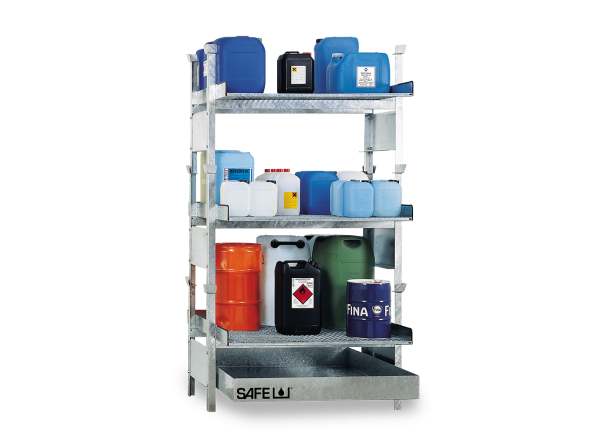 SAFE Kleingebinderegal für Gefahrstoffe Komplettset KSGD3