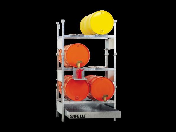 SAFE Kleingebinderegal für Gefahrstoffe  Komplettset KS6L