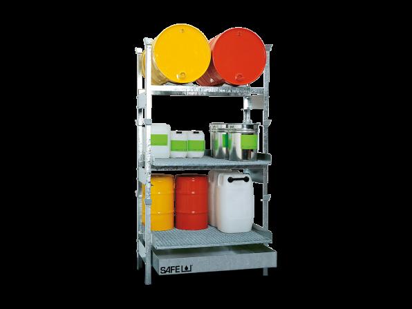 SAFE Kleingebinderegal für Gefahrstoffe Komplettset KSL2GD2